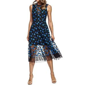 Dress the Population Robyn Embroidered Lace Dress